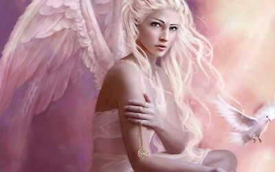 Home Artwork Wall Decor Angel Fantasy Oil Painting Picture Printed On Canvas