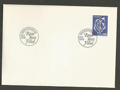 SWEDEN -  1978 Space without Branch - Arne Jones   - FIRST DAY COVER.