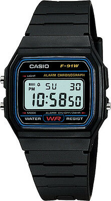 Casio F-91W Genuine Original Alarm Chronograph Digital Retro Watch New F-91 F91
