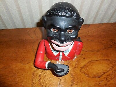 African American Americana Folk Cast Iron Bank  Made in England