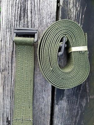 1 3/4 inch 11ft. Military Olive Green Nylon Webbing Strapping  W/ Buckle