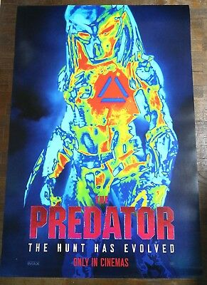 Shane Black THE PREDATOR 2018 27X40 Original DS Movie Poster B