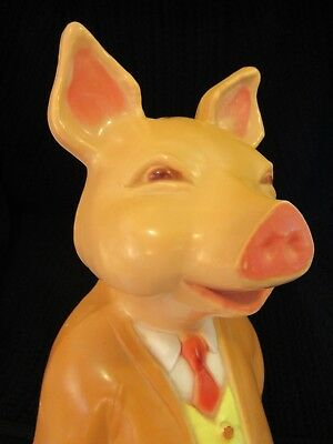 Vintage Union Blow Mold Plastic Product Pig 19 Inches Tall Fill With Sand