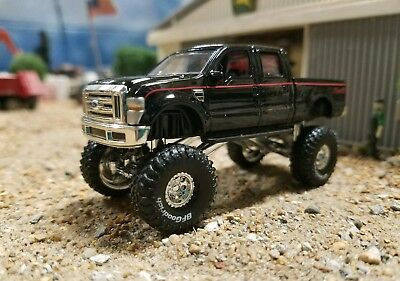 Lifted Ford F250 >> 2008 Lifted Ford F250 Truck 1 64 Scale 4x4 F350 4wd Monster