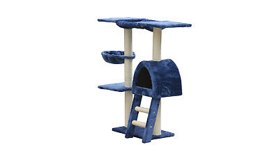 100 cm Blue Cat Tree Scratching Post Scratcher Pole Gym Toy House Furniture