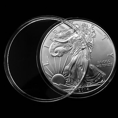 10  Air-Tite H-40 Coin Holder Capsules for 1oz American Silver Eagles.
