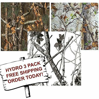 Hydrographic Film Water Transfer Printing Film Hydro Dip Tree Camo 3 Pack