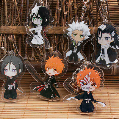 Japan Anime BLEACH Grimmjow Jeagerjaques Acrylic Key Ring Pendant Keychain Gift