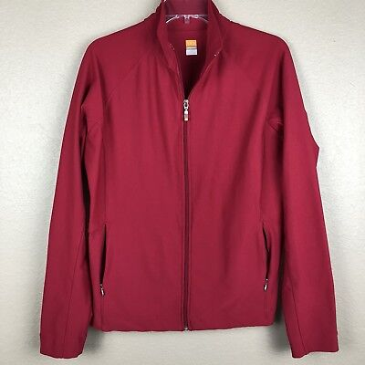 Lucy Tech Womens Full Zip Up Jacket Sweater Berry Red Athletic XL
