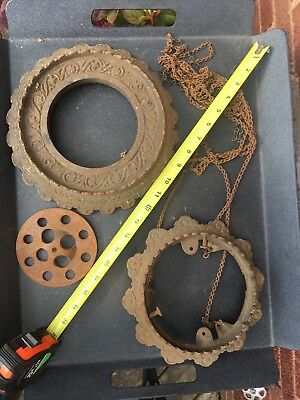 Antique Victorian Wall Sconce Gas Light  cast iron frames