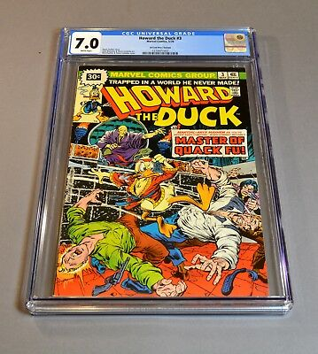 """Howard the Duck # 3 """"30 cent variant"""" CGC slabbed and graded 7.0 FN/VF! RARE!"""