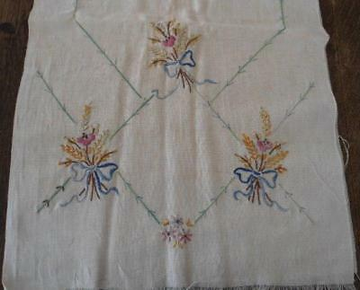 "Fairway Needlecraft Stamped Perle Edge Dresser Scarf 15/""X42/""-Flower Basket"
