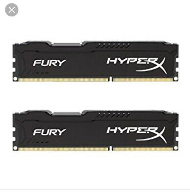 HYPER X FURY 16GB BLACK DDR3 RAM Kit 2x8 Sticks