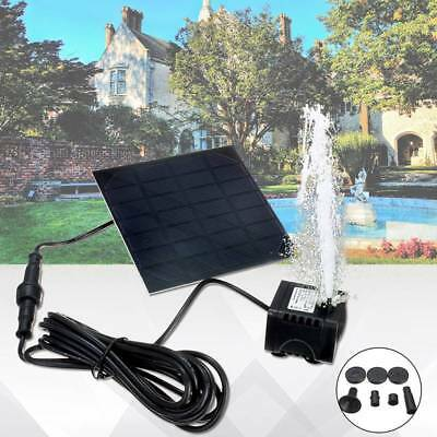 Solar Power Panel Fountain Home Garden Pond Pool Water Pump Kit Submersible NEW