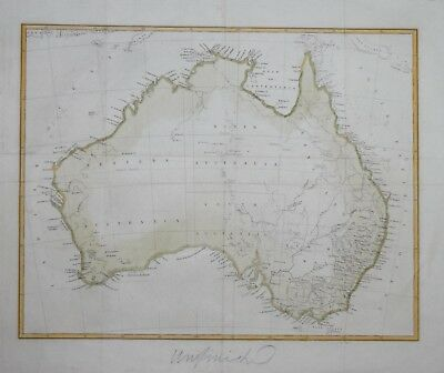Australia - Early Unfinished Map Of The Continent. Circa 1840?