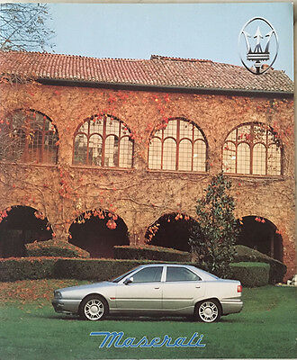 REDUCED Maserati 1996 Sales Brochure Ghibli Kit Sportivo Open Cup Quattroporte