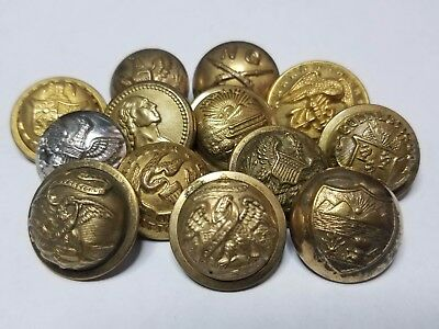 Indian Wars button lot US Army regimental buttons state seals military uniform