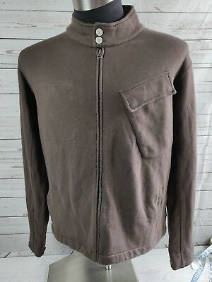 VINTAGE MOD Mens PAUL SMITH Sweatshirt ZIPPER Cardigan Slim Fit large