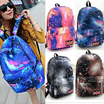 Women Backpack Galaxy Rucksack Satchel School Bag Teenager Girls Bookbag Satchel
