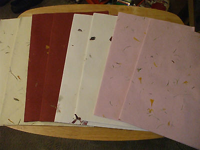 job-lot of 100 large sheets of Hand made mulberry paper   70 cm x 50 cm