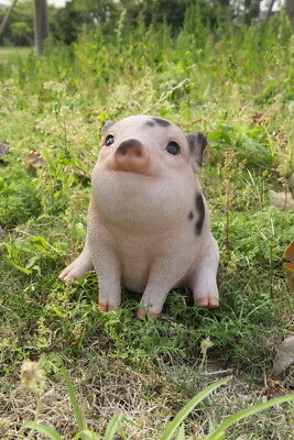 Spotted Pig 5.7 in.sitting animal farm piglet oinker resin figurine statue new