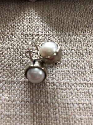 Silpada Sterling Silver And Pearl Earrings