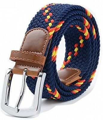 Stretch Belt, Vonsely Elastic Belts Braided Fabric Belt Colorful Woven Belts