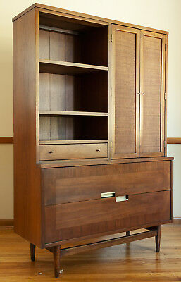 American Of Martinsville China Cabinet Hutch Mid Century Modern Vintage