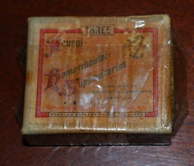 Antique Pharmacy Medicine Anusol Suppositories Box Full
