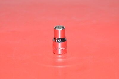 """Snap-On Tools 1/4"""" Drive Shallow Standard SAE 1/4"""" Chrome 12 Point Socket TMD8"""