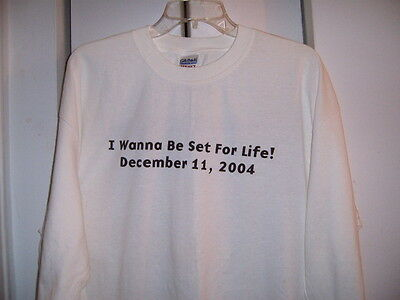 "Harrahs Casino T-Shirt Sz Xl ""set For Life"" Promo  2004 Long Sleeve Never Worn"