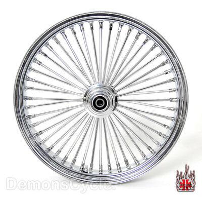"23"" x 3.5"" CUSTOM FRONT WIDE GLIDE WHEEL MAMMOTH 48 FAT KING SPOKES FIT HARLEY"