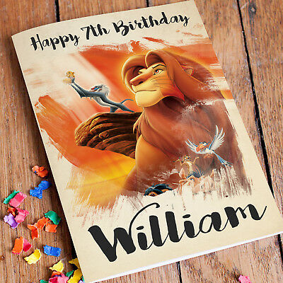 LION KING Personalised Birthday Card FREE Shipping | Son Daughter Mum Dad