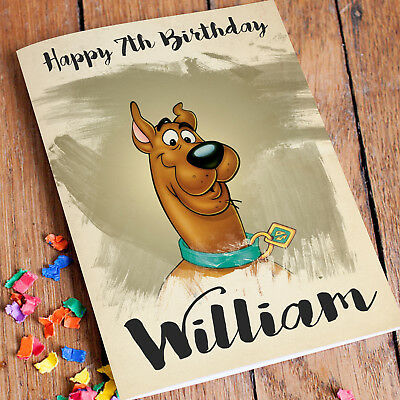 SCOOBY DOO Personalised Birthday Card FREE Shipping