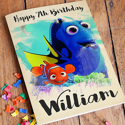 Personalised Finding Dory Birthday Card Daughter Son Brother