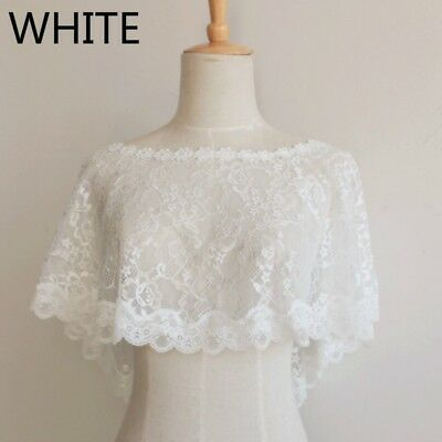 Bridal Lace Shrug Bolero Cape Wrap Shawl Capelet Tulle Mesh Wedding Chic Elegant