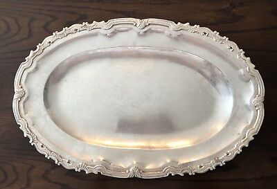 Sterling Silver 925 Vintage Platter Tray ART NOUVEAU  Made In Peru