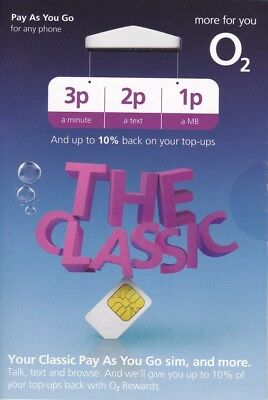 O2 Pay As You Go The Classic PAYG Package Standard Micro Nano SIM card 02