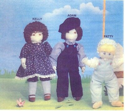 Soft Sculpture Art Doll Pattern Adam Doll and Clothing