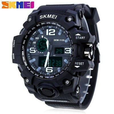 Water Resistant Dual Movement Digital Watches For Boys Men Sport Watches