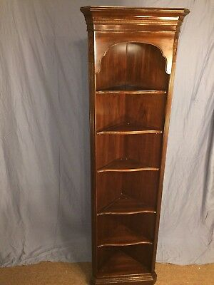 Vintage Ethan Allen Georgian Court Corner Shelf