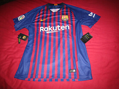 FC Barcelona Home Official Shirt 2018 Large  Brand New