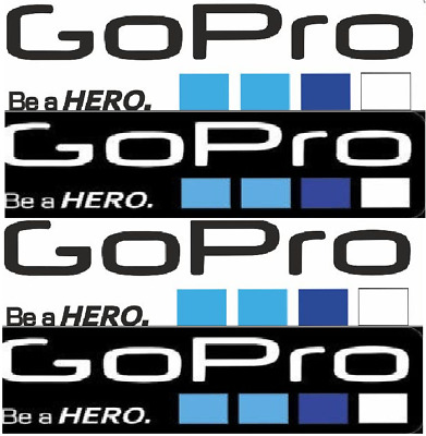 9 Pcs Icon Logo Stickers Decal Set for GoPro Hero 4 3+ 3 2 1 Sports Camera