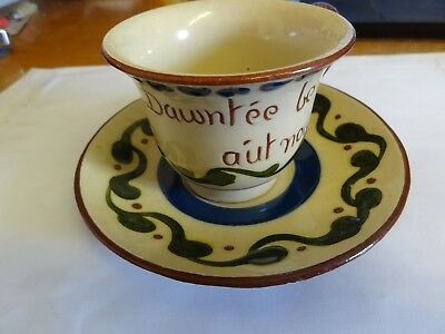 Longpark Torquay Cup And Saucer, Good Condition Motto Ware
