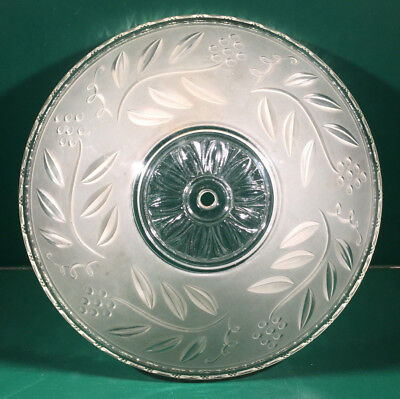"""Vintage 12"""" Frosted Ceiling Light Shade Art Deco"""