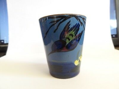 Longpark Antique Vase / Pot / Vessel , Kingfisher Design Blue Ware