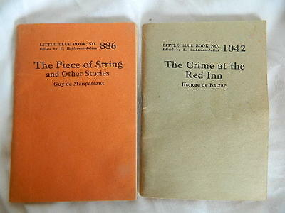 Little Blue Book 886 & 1042 The Piece of String & The Crime at the Red Inn