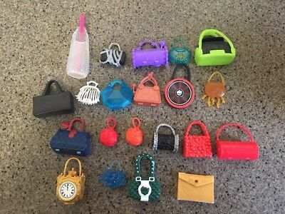 Monster High  And Ever After High Lot of Doll Purses Clutches and More!