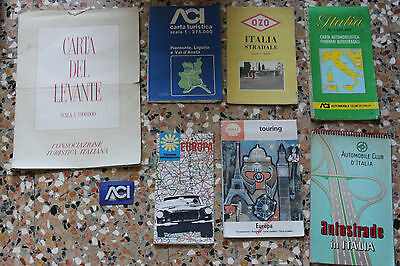 Lotto cartine stradali,shell,ozo,Automobilclub, carta del levante ecc vintage