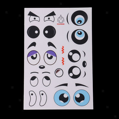 10x Emoticon Adhesive Stickers Funny Eyes Crafts Accessories Kid's Sticker